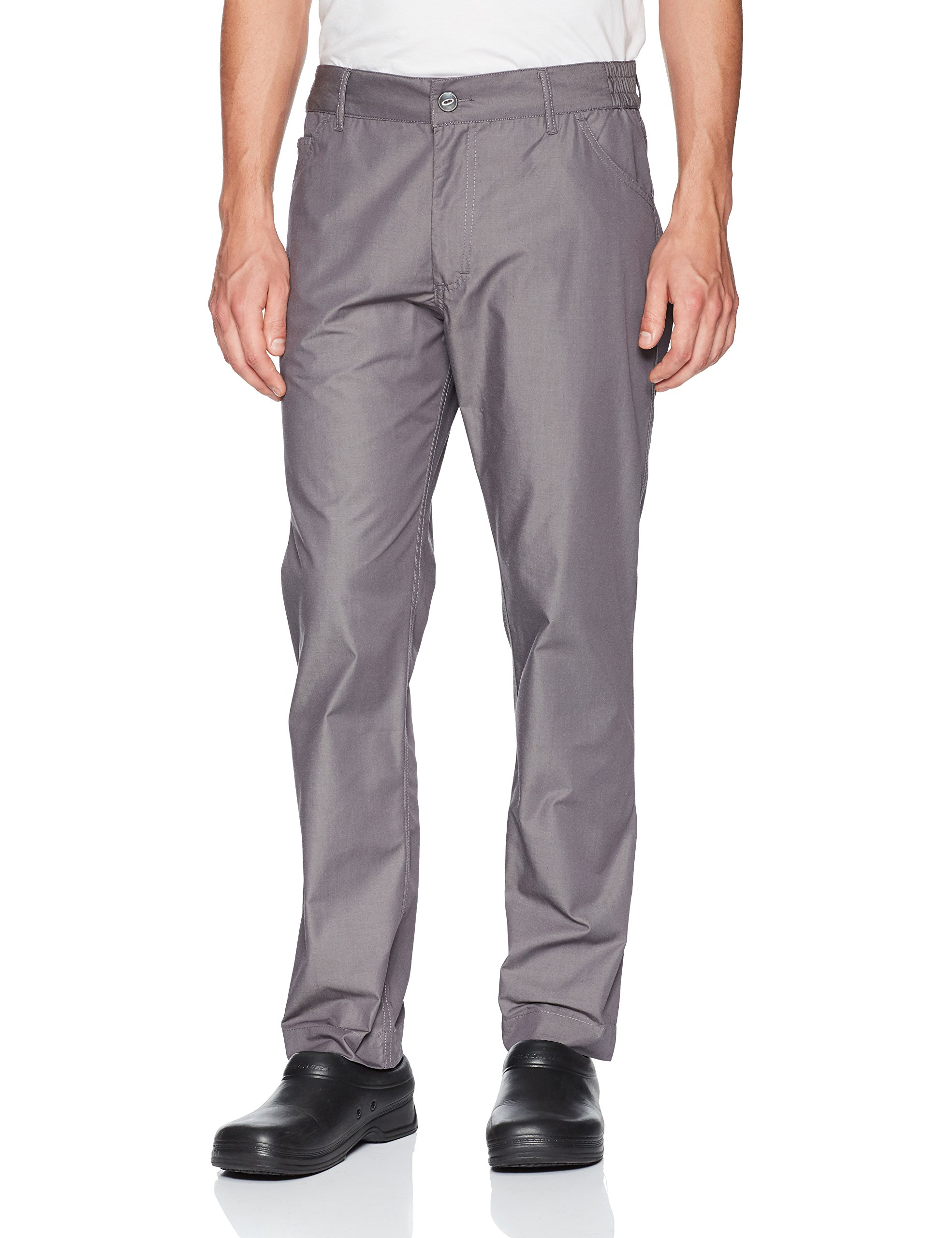 Chef Works Mens Professional Pants, Steel Blue, X-Large
