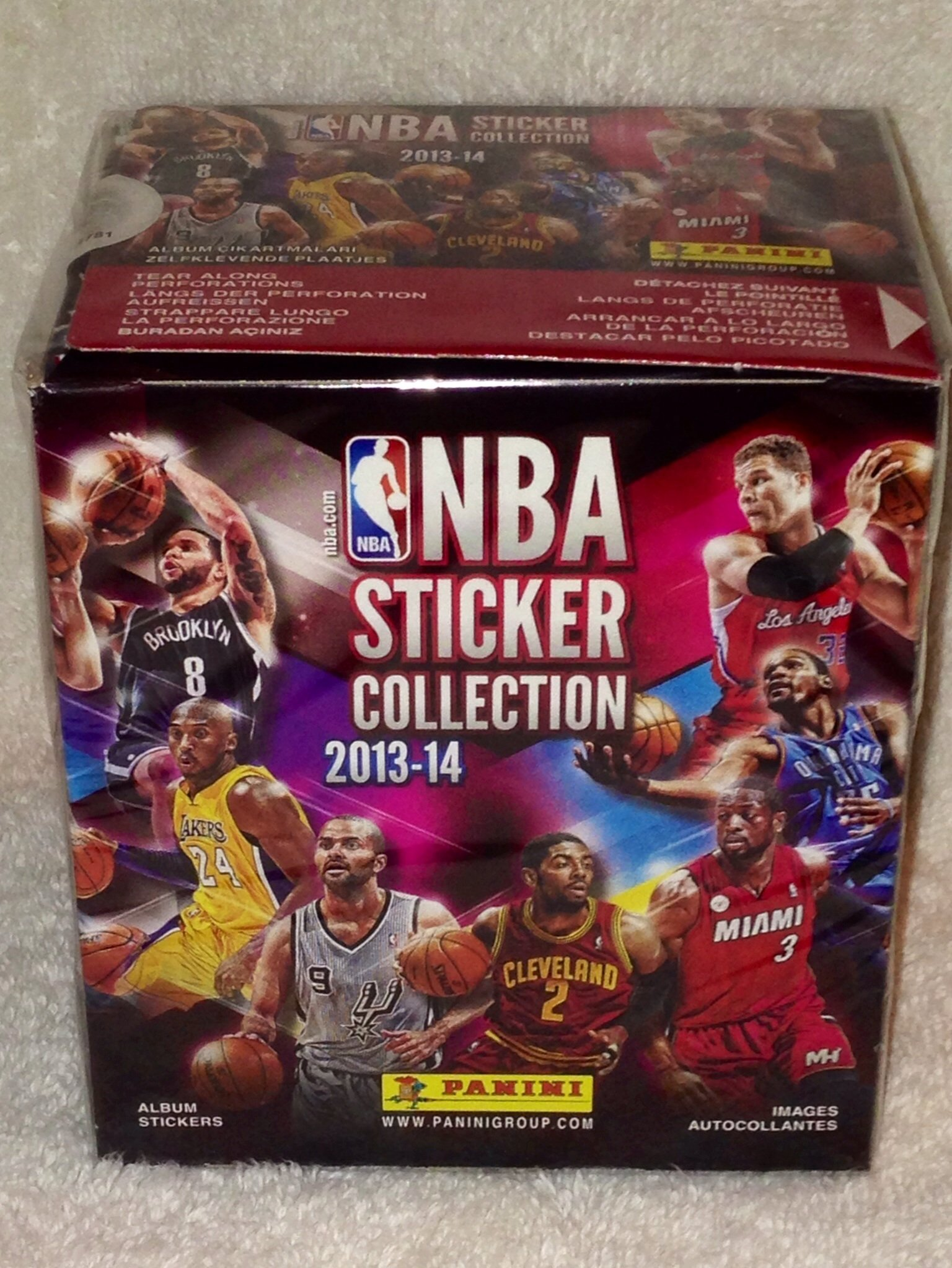 2013-14 Official Panini NBA Sticker Collection - 50 Sticker Packets Per Box (5 Stickers Per Pack)