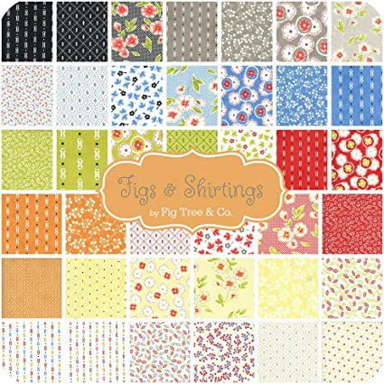 Figs /& Shirtings Layer Cake 42-10 Precut Fabric Quilt Squares by Joanna Figueroa of Fig Tree Quilts