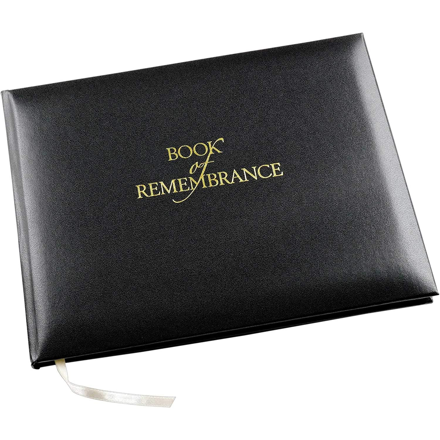 Esposti Book of Remembrance - Black - Funeral Guest Book - Memorial Book - Condolence Book - Presentation Boxed - (Large Size - Width 265mm - Height 195mm - Depth 15mm)