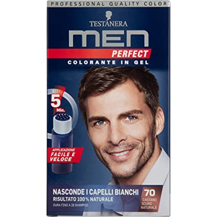 latest discount uk store reasonably priced Testanera - Men Perfect, Colorante in Gel, 70 Castano Scuro Naturale - 1  confezione