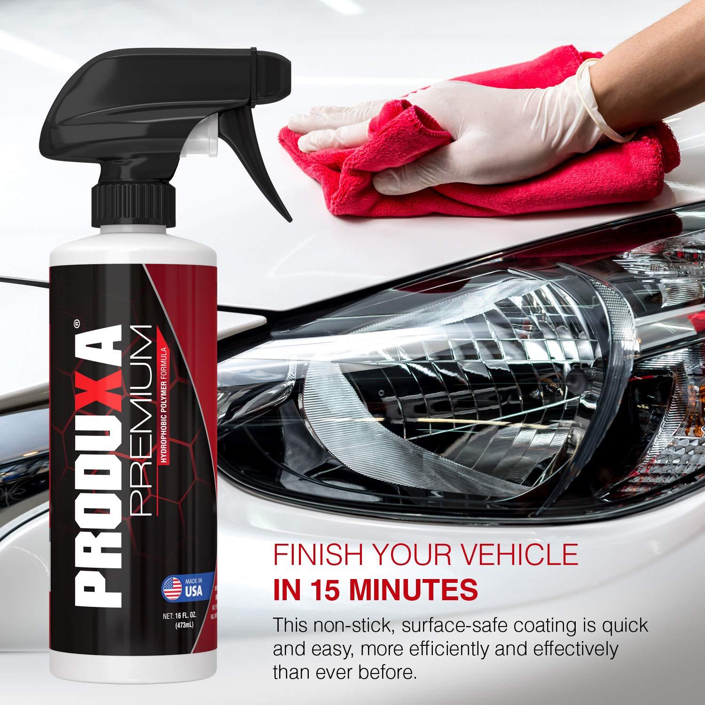 PRODUXA Premium Super Gloss & Ultra Hydrophobic Shine Spray: Revolutionary Paint Polish & Sealer | Multi-Surface Top Coat for Car, Bike & Boat | Applies in Minutes, Long Lasting & Streak-Free | 2 KIT by PRODUXA (Image #3)