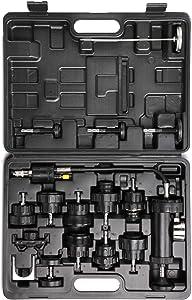 WINTOOLS 18pcs Auto Cooling System Radiator Cap Pressure Tester Kit Pump Gauge Adapters
