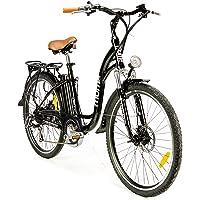 """Moma Bikes Vélo Electrique VAE De ville, E-26"""", Aluminium, SHIMANO 7V, Freins a Disque Bat. Ion Lithium 36V 16Ah"""