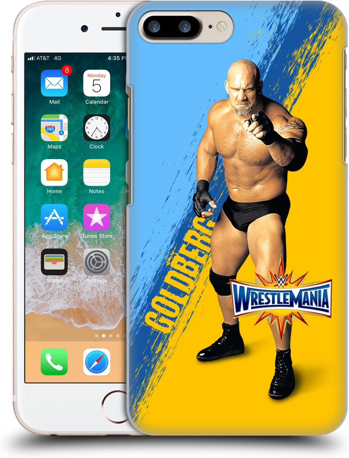 Head Case Designs Officially Licensed WWE Goldberg Wrestlemania 33 Hard Back Case Compatible with Apple iPhone 7 Plus/iPhone 8 Plus