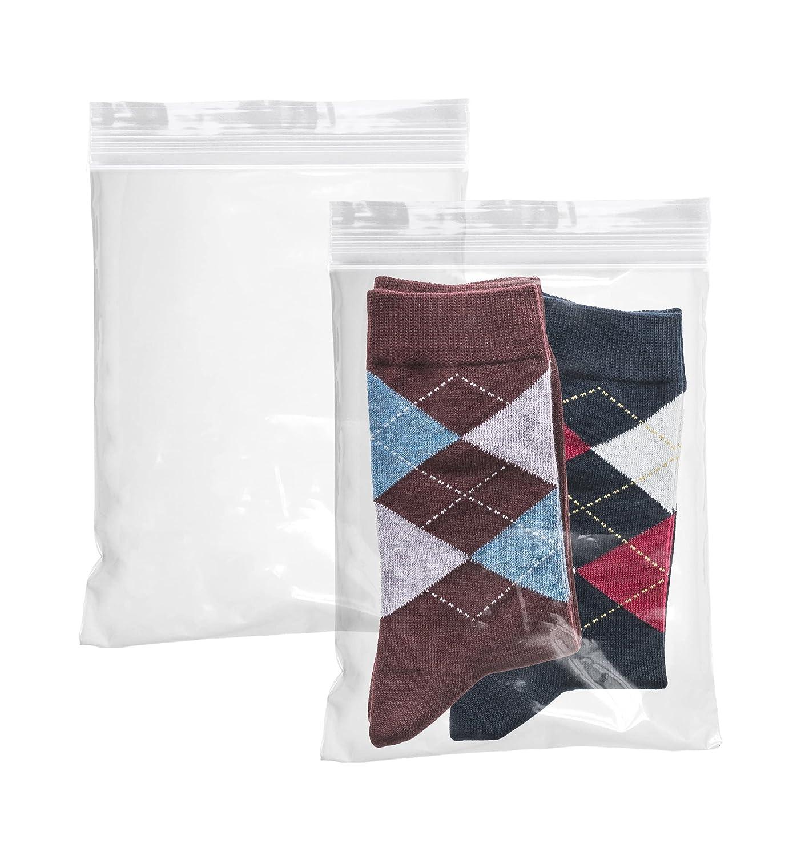 APQ Pack of 100 Clear Zip Lock Bags 7 x 9. Seal Top Polyethylene Bags 7