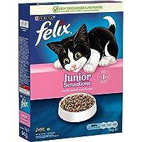 Felix Junior Sensations kattenbrokken met Kip, Melk en Groenten - kattenvoer voor kittens van 6 52 weken 1kg doos x 5…