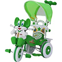 Amardeep and Co Baby Tricycle with Parental Control, Green