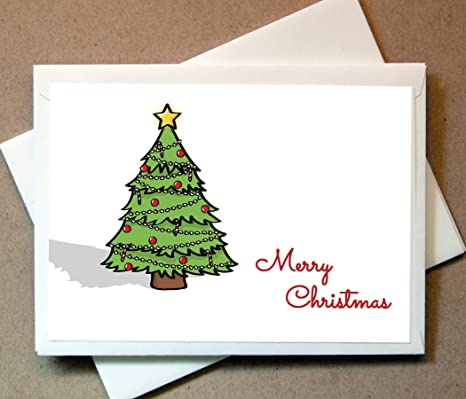 personalized holiday cards christmas tree 30 cards with envelopes ships right away - Personalized Holiday Cards