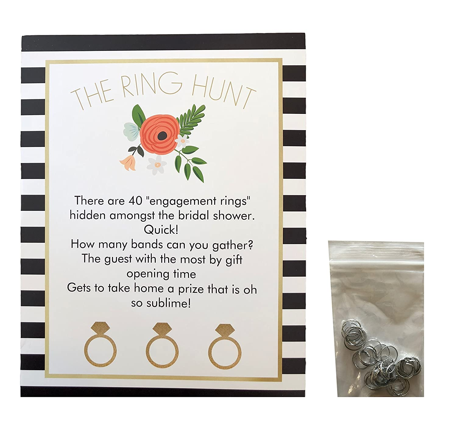 Amazon.com: The Bridal Shower Ring Hunt Party Game Put a Ring On It ...