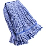String Mop Heads Replacement Heavy Duty Commercial Grade Blue Cotton Looped End Wet Industrial Cleaning Mop Head Refills…