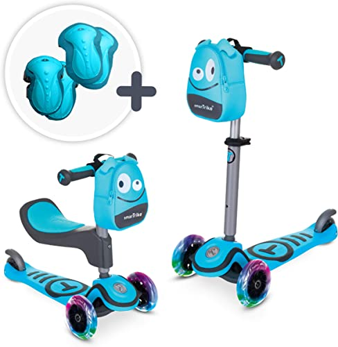 smarTrike T1 3-in-1 Toodler Scooter for Boys Girls, Saftey Gear Included, for 1-3 Years Old Kids