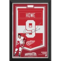 $465 » Gordie Howe Framed Arena Banner Limited Edition /99 - Red Wings, Cut Signature