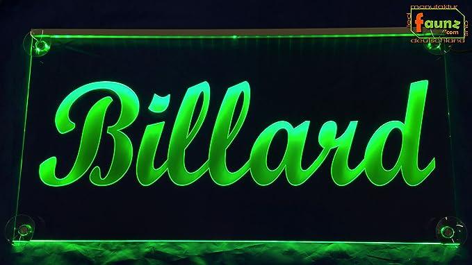 LED Cartel billar verde o su texto publicitario en Selector ...