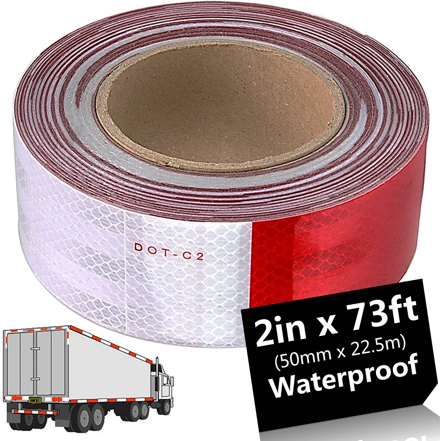 5 Piece of 50mm×150mm Red High Intensity Reflective Stickers Tape Self-Adhesive