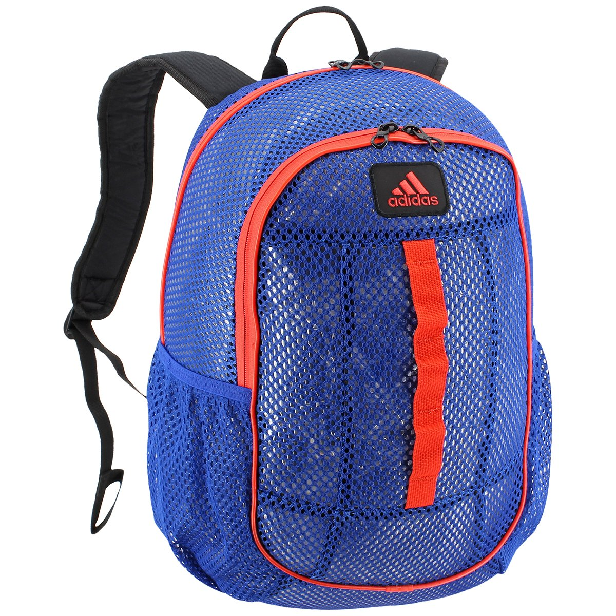 adidas Hermosa Mesh Backpack, Royal/Orange, One Size
