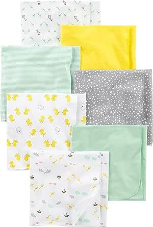Simple Joys por Carter's Baby Paquete de 7 mantas de algodón para recepción