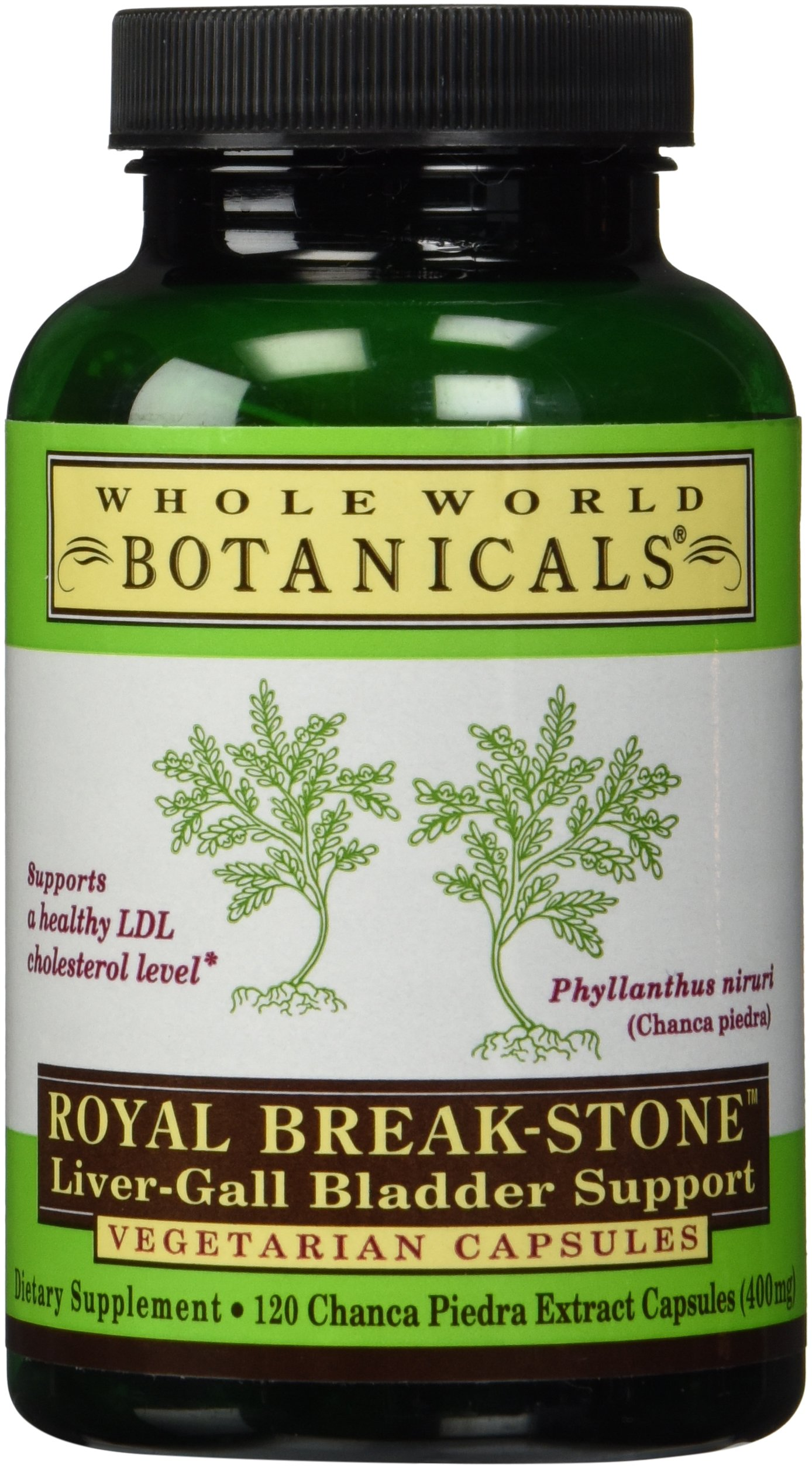 Whole World Botanicals Royal Break-Stone Liver-Gall Bladder Support 400 mg 120 Vegetarian Capsules