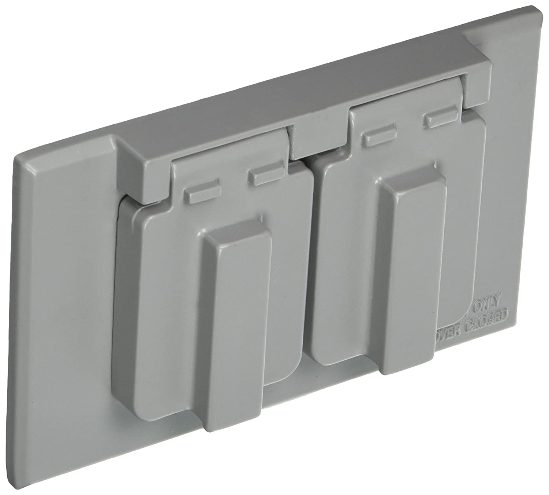 Morris 37010 Horizontal Duplex Receptacle 1-Gang Weatherproof Cover Morris Products