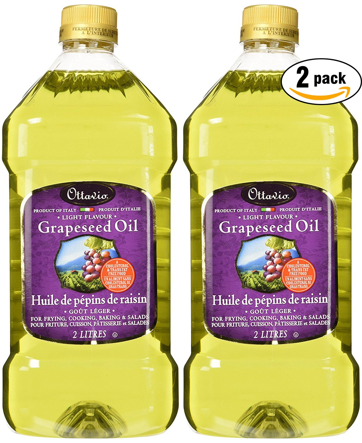 Ottavio Grapeseed Oil, 67.63 Fluid Ounce (2-Pack) by Ottavio
