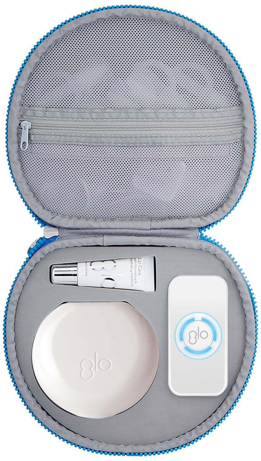 GLO Brilliant Deluxe Teeth Whitening Device Kit with Patented Blue LED Light & Heat Accelerator for Fast, Pain-Free, Long Lasting Results. Clinically Proven. Includes 10 GLO Gel Vials+ Lip Care, WHITE by GLO Science (Image #10)