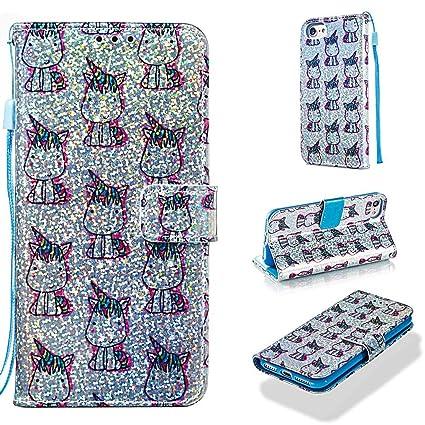 Amazon.com: Funda para iPhone 6S/6/7/8, piel sintética con ...