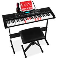 Best Choice Products 61-Key Beginners Complete Electronic Keyboard Piano Set w/Lighted Keys, LCD Screen, Headphones…