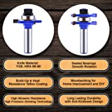 Tongue and Groove Router Bit Set (2 PCS) With 1/2