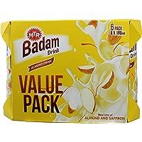 MTR Badam Milk Can Original, 180ml (Pack of 6)
