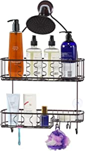 SimpleHouseware Bathroom Hanging Shower Head Caddy Organizer, Bronze (26 x 16 x 5.5 inches)
