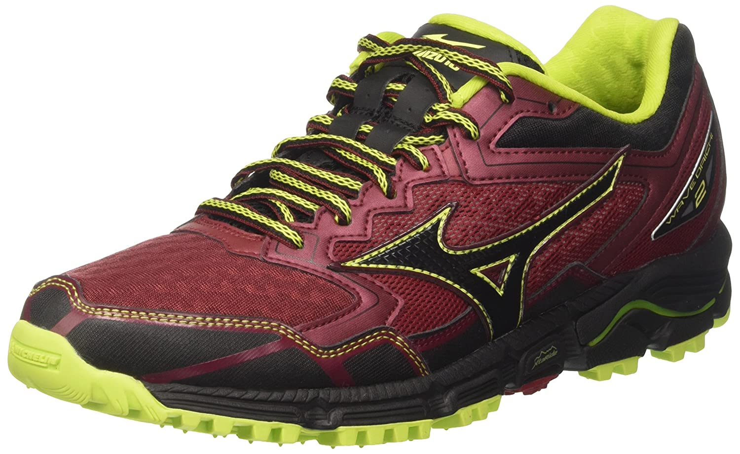 Mizuno Wave Daichi, Zapatillas de Running para Hombre 46 EU|Multicolor (Bikingred/Black/Limepunch)