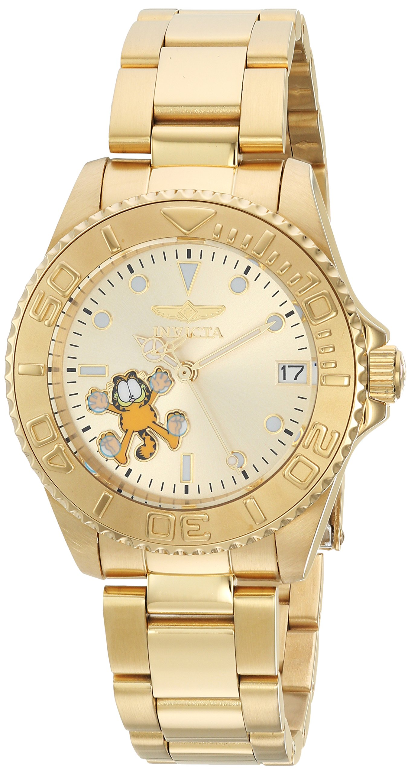 Invicta Women's 'Character Collection' Automatic Stainless Steel Diving Watch, Color:Gold-Toned (Model: 24867) by Invicta