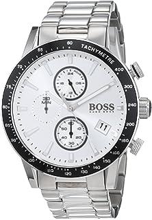 cbe45cd7ec1 Hugo Boss Watch Mens Chronograph Quartz Watch with Rose Gold Strap ...