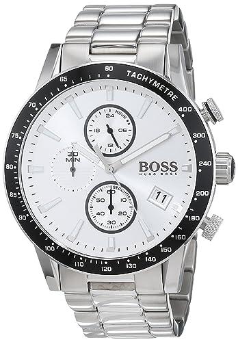 9f6acd23e4a5 Hugo BOSS Reloj Cronógrafo para Hombre de Cuarzo con Correa en Acero  Inoxidable 1513511  Amazon.es  Relojes