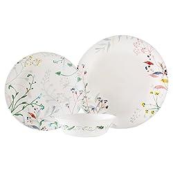 Corelle Vitrelle 12–Piece Glass Chip and Break Resistant Dinner Set, Monteverde