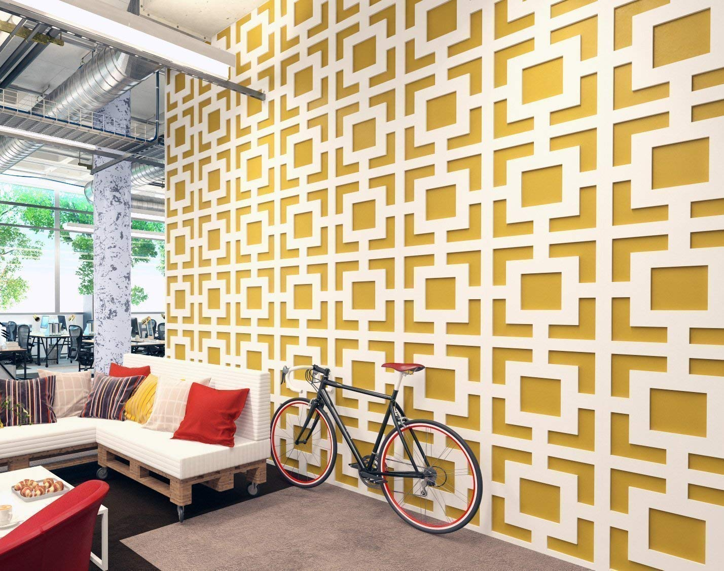 Living Room Designs Indian Style Middle Class, Amazon Com Homeartdecor Mid Century Modern 3d Wall Panels 3d Tiles High Quality Polyvinyl Chloride Office Decoration Home Decoration Easy To Apply Fretwork Lattice Handmade