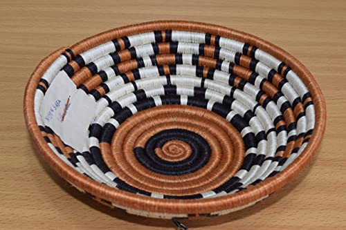 Handmade in Rwanda 7 Inches Sisal /& Sweetgrass Basket Small Hand Woven African Basket SRB234