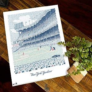 Yankee Stadium Word Art (Unframed 16x20)