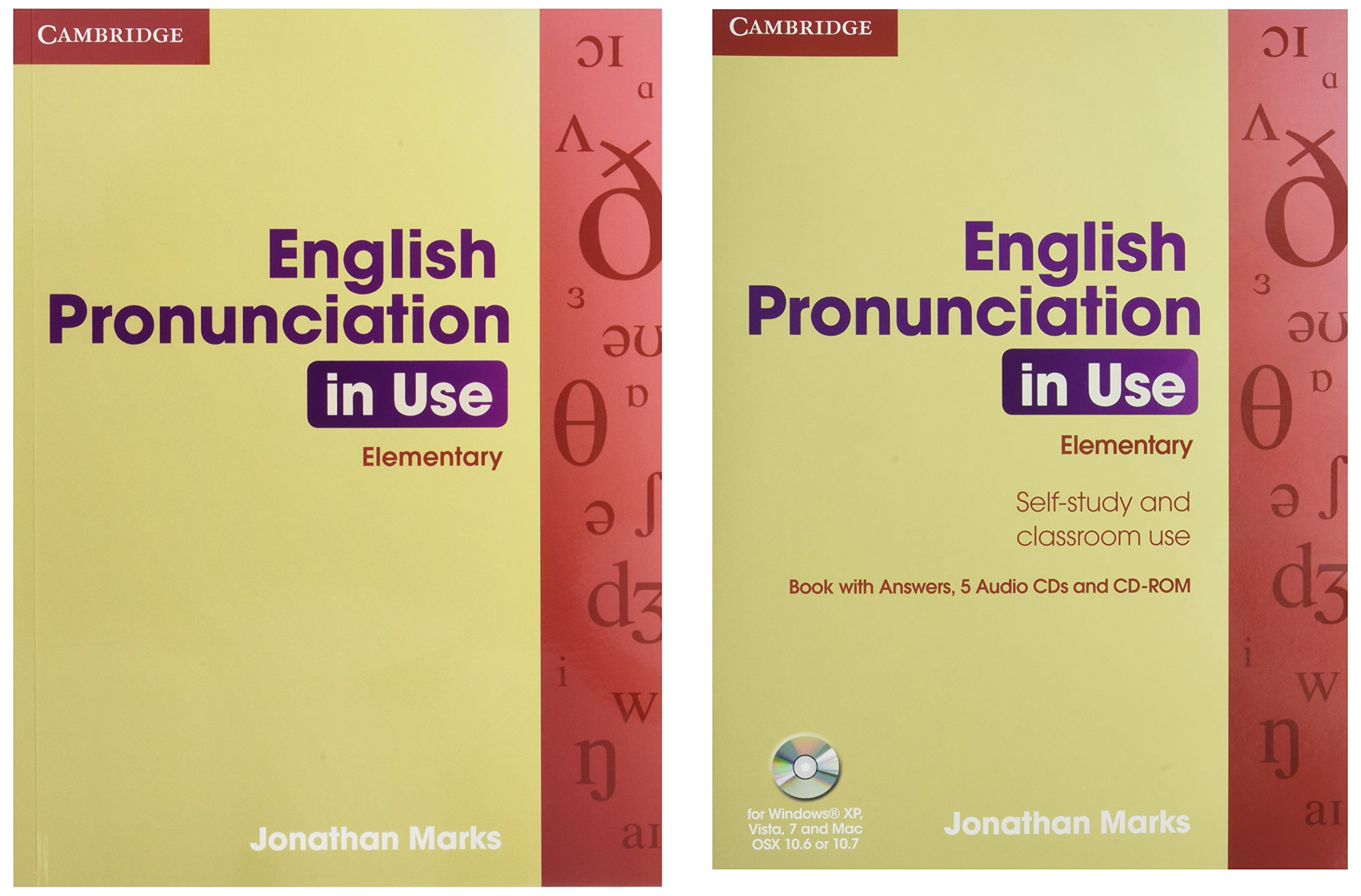 English Pronunciation In Use Elementary Book With Answers 5 Audio Cds And Cd Rom Amazon Co Uk Donna Sylvie Marks Jonathan 9780521693738 Books