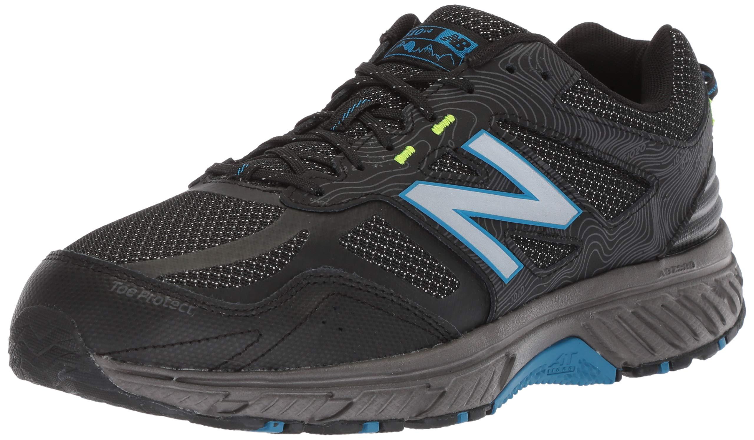 New Balance Men's 510v4 Cushioning Trail Running Shoe, Magnet/Black/Reflective, 7 D US