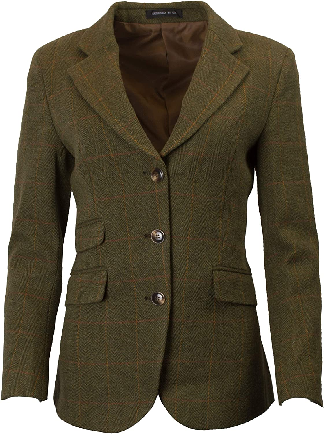 Walker /& Hawkes Mayland klassischer Country-Stil Damen Blazer aus Tweed