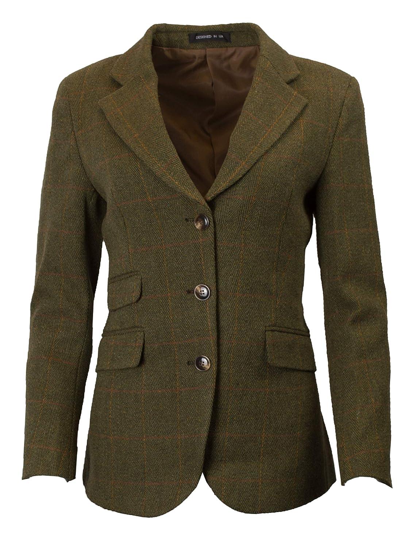 Walker & Hawkes - Ladies Classic Mayland Tweed Country Blazer Jacket Walker and Hawkes