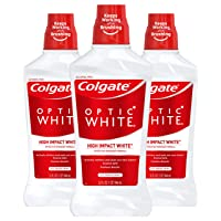 Deals on 3-Pack Colgate Optic White Whitening Mouthwash 32oz
