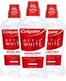 Colgate Optic White Whitening Mouthwash, Fresh Mint - 946mL, 32 fluid ounce (3 Pack)