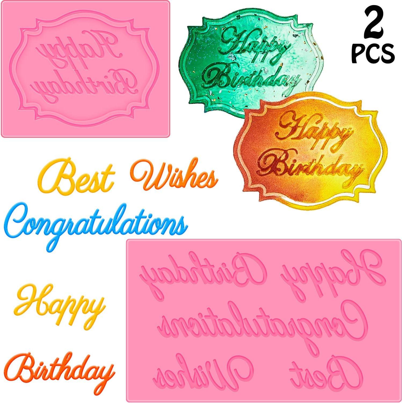 Happy Birthday Silicone Cake Fondant Mould Decorating Baking Mold Chocolate R3S0