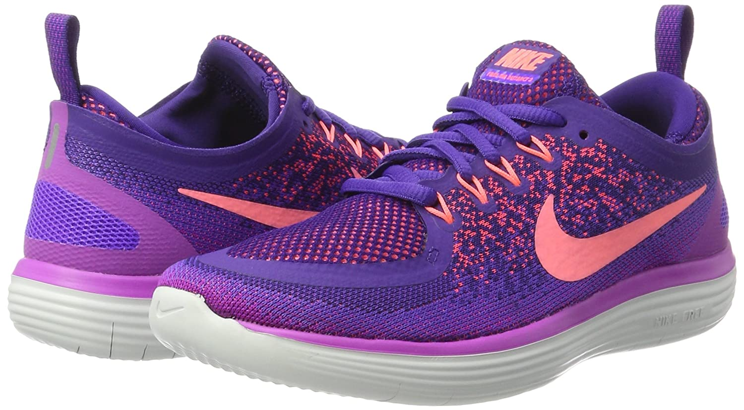 wholesale dealer 58d5b 6c58c Nike Women s Free RN Distance 2 Running Shoe Hyper Grape Lava Glow-Court  Purple 8  Amazon.in  Shoes   Handbags