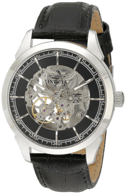 [インヴィクタ]Invicta 腕時計 Specialty Analog Display Mechanical Hand Wind Black Watch 18130 メンズ [並行輸入品] B0168AMOKO