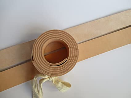 "9-10oz Veg Tanned Natural Leather Belt Blank Strip Band. 51"" or 130cm. Width 2"" (50mm.)"