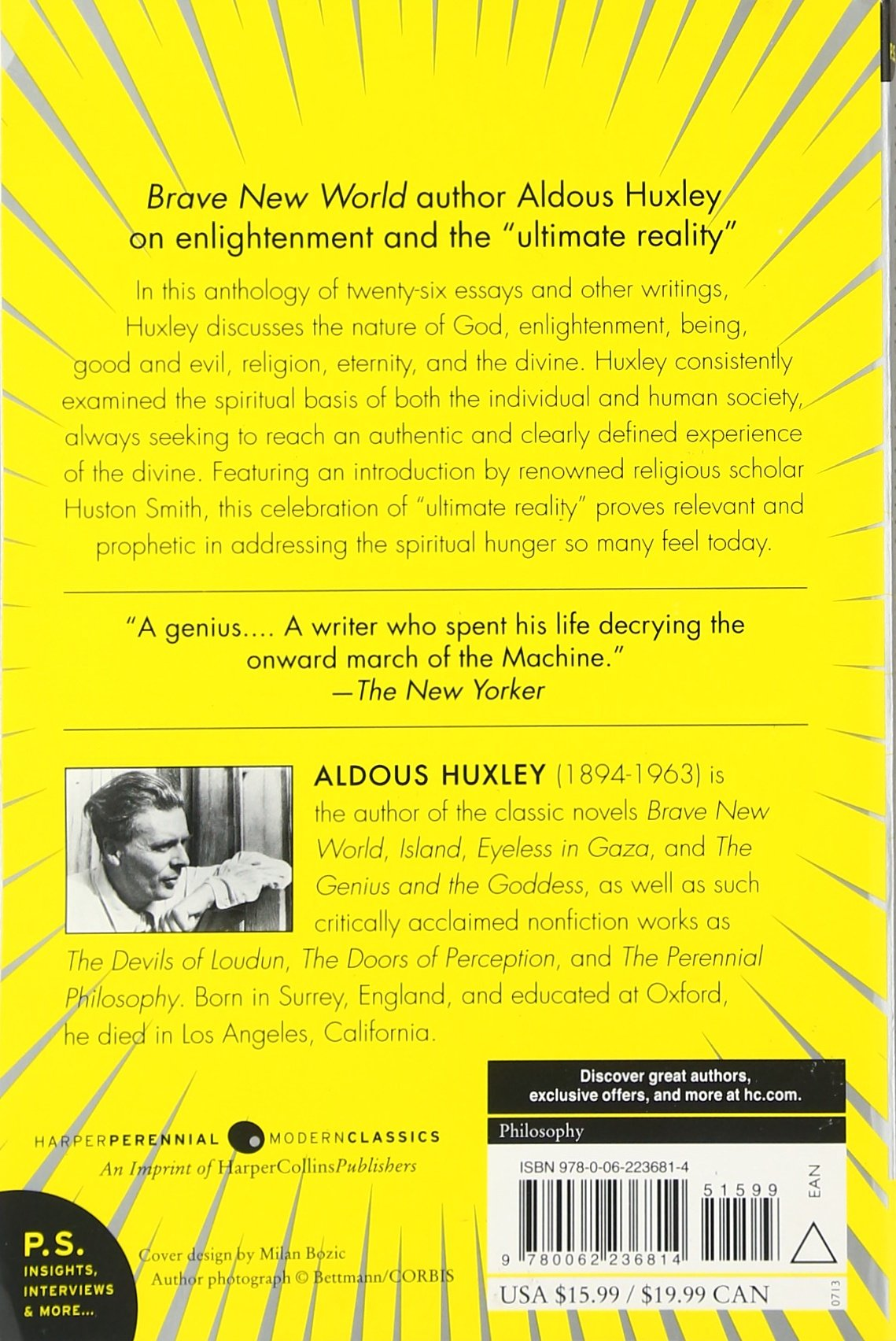 the divine in selected writings on enlightenment aldous the divine in selected writings on enlightenment aldous huxley huston smith 9780062236814 com books