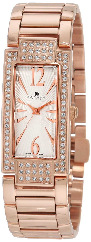 Damen Charles - Hubert Swarovski Crystal Bezel Bracelet Armbanduhr ROSE-PLATED